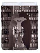 Picasso Chicago Bw Duvet Cover