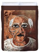 Picasso The Bull In Winter Duvet Cover
