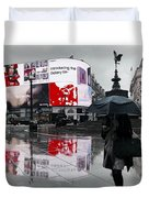 Piccadilly In The Rain Duvet Cover