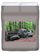 Pick Up Truck In The Woods Duvet Cover