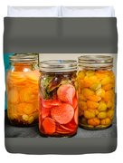 Pickled Veggies Duvet Cover