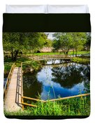 Picnic Area In The Marnel River I Duvet Cover
