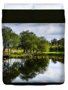 Picnic Area In The Marnel River IIi Duvet Cover