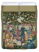 Picnic By The Inlet Duvet Cover