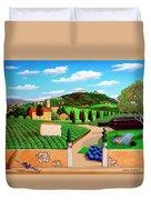 Picnic In Tuscany Duvet Cover