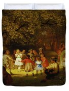 Picnic Party In The Woods Duvet Cover