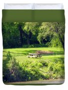 Picnic Table Duvet Cover