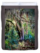 Picnic Time In Florida Duvet Cover