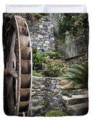 Pictueresque Waterwheel In Cinqueterre Garden Duvet Cover