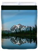 Picture Lake At Night Duvet Cover