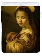 Picture Of A Young Girl Duvet Cover by Govaert Flinck