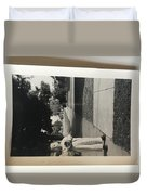 Picture Of Boy With Camera Duvet Cover