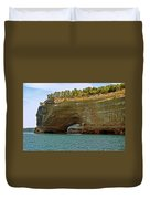 Pictured Rocks Arch Duvet Cover