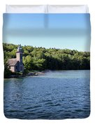 Pictured Rocks Lighthouse Duvet Cover