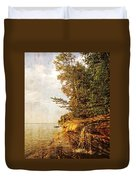 Pictured Rocks Water Duvet Cover