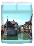 Picturesque Annecy, France Duvet Cover