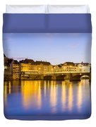 Picturesque Basel At Night Duvet Cover