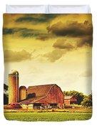 Picturesque North Dakota Farm Duvet Cover