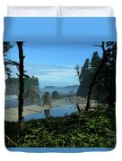 Picturesque Ruby Beach View Duvet Cover