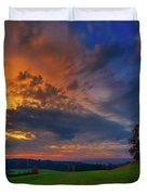 Picturesque Rural Sunset Duvet Cover