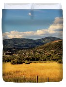 Picturesque View Of Steamboat Springs Colorado Duvet Cover