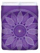 Pieces In Purple Duvet Cover