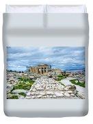 Acropolis - Pieces Of The Puzzle Duvet Cover