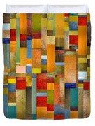 Pieces Parts Duvet Cover by Michelle Calkins