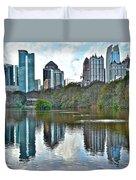Piedmont Park Atlanta Reflection Duvet Cover