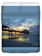 Pier 60 Sunset Duvet Cover