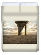 Pier And Clouds Duvet Cover