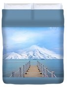 Pier And Mountain Duvet Cover