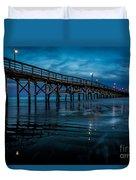 Pier At Dusk Duvet Cover