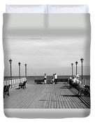 Pier End View At Skegness Duvet Cover