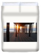Pier Shadows Duvet Cover