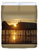 Pier Sunrise Duvet Cover