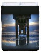 Pier View At Dawn Duvet Cover