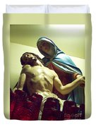 Pieta And The Candles Duvet Cover