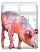 Pig Painting Duvet Cover