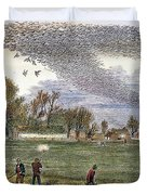 Pigeon Hunting, C1875 Duvet Cover