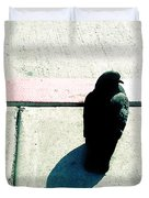 Pigeon Waits Duvet Cover