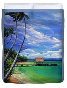 Pigeon Point   Tobago Duvet Cover