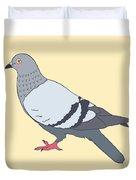 Pigeon Yellow Duvet Cover