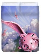 Pigs Away Duvet Cover