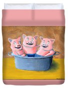 Pigs In A Tub Duvet Cover