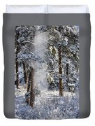 Pike National Forest Snowstorm Duvet Cover