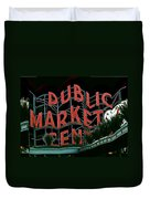 Pike Place Market Entrance 5 Duvet Cover