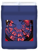 Pike Place Market Entrance Duvet Cover