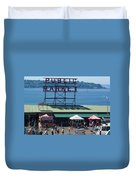 Pike Place Public Market Duvet Cover