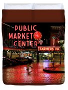 Pike Place Reflections Duvet Cover